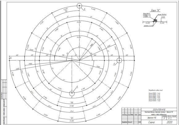 Зеркало MG диаметр 5000мм