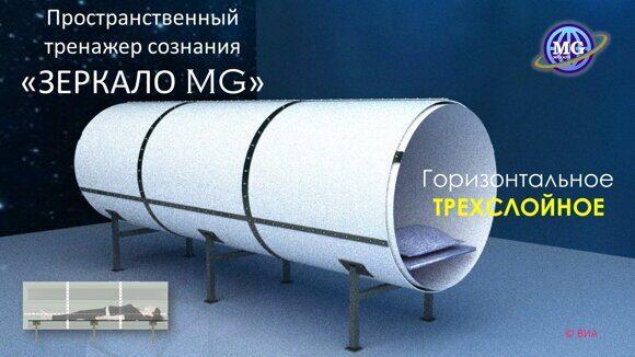 Зеркало Козырева-MG_горизонтальное, трехслойное